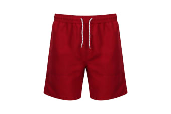 Front Row Mens Board Shorts (Vintage Red/Vintage Red)