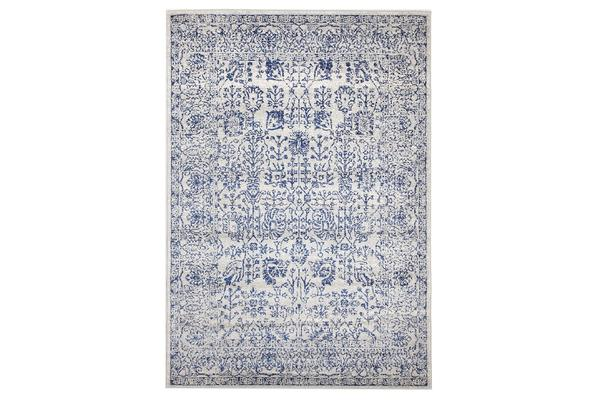 Frost Blue Transitional Rug 330x240cm