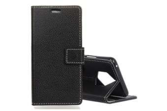 Litchi Texture Horizontal Flip Leather Case With CARD Holder Stand
