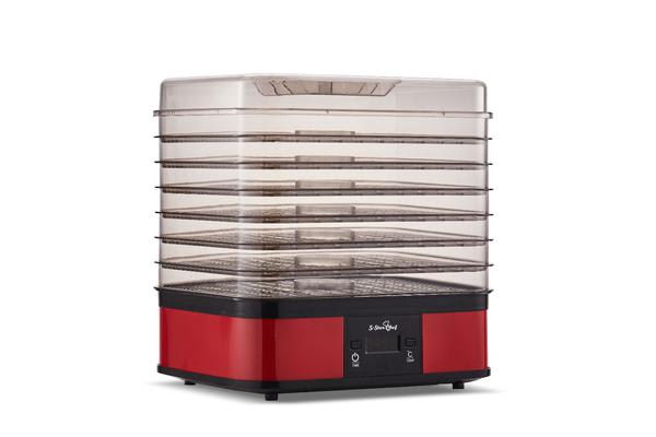 5 Star Chef Food Dehydrator with 7 Trays (Red)