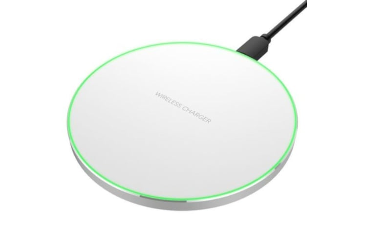 QI Wireless Charging Pad with charging status LED - White