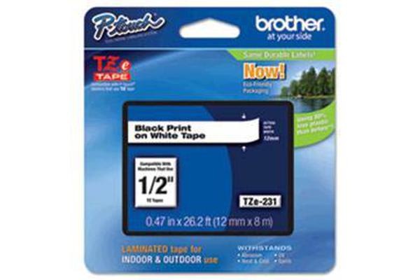 Brother genuine TZe221 9mm x 8m Standard laminated Black