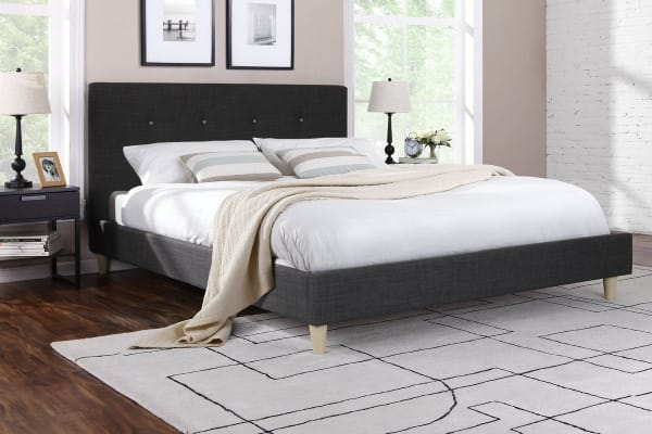 Ovela  Bed Frame - Sonata Collection (Grey, Double)
