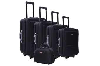Black Luggage Set - 5 Piece