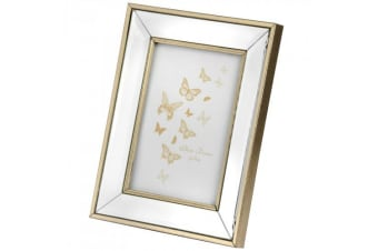 Hill Interiors Rectangle Bordered Photo Frame (Gold)