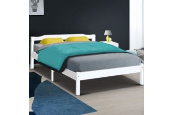 Double Full Size Wooden Bed Frame Mattress Base Timber Platform