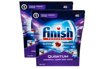 Finish 80 Tabs Quantum Powerball Super Charged Dishwashing/Dishwasher Tablet