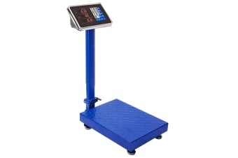 150kg Electronic Digital Platform Scale Computing Shop Postal Scale Blue
