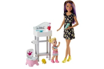 Barbie Skipper Babysitters Inc Doll and Potty Training Playset