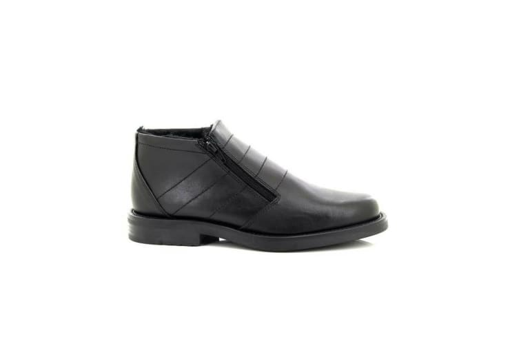 Roamers Mens Twin Zip Thermal Lined Boots (Black) (12 UK)