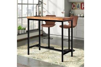 Levede Vintage Industrial Wood Bar Table Kitchen Cafe Office Desk Steel Legs