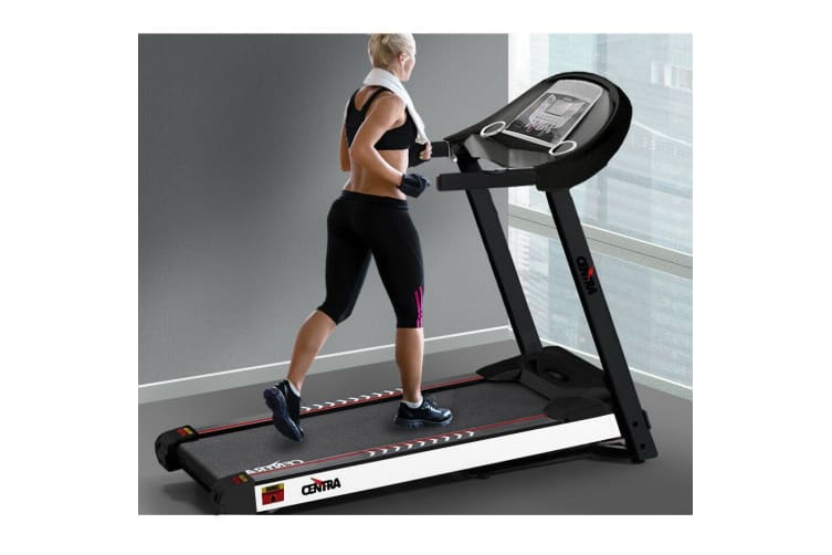 CENTRA Electric Treadmill Auto Incline Home Gym Exercise Machine Fitness Black