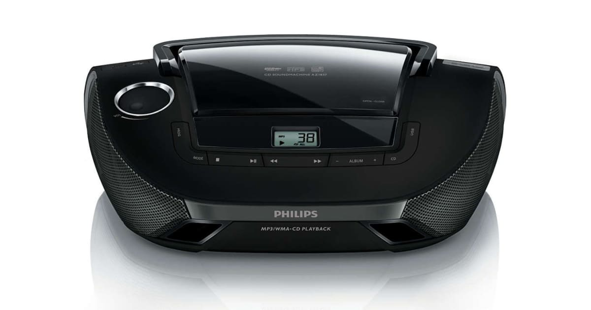 Philips Sound Machine Portable Cd Player With Usb Black