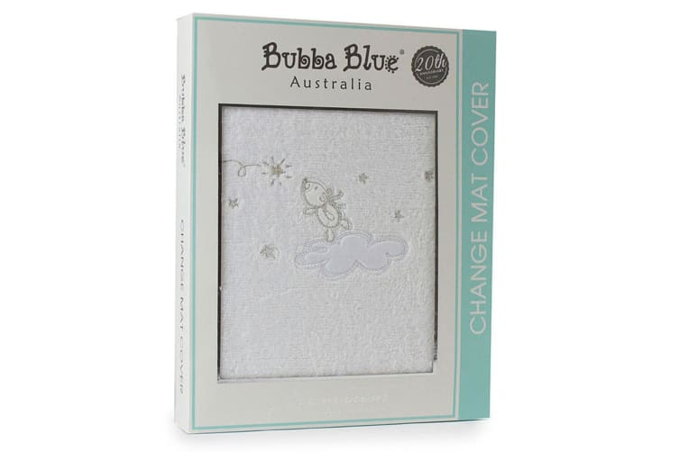 Bubba Blue 48x82cm Wish Upon A Star Change Mat/Pad Cotton Cover Baby/infant WHT