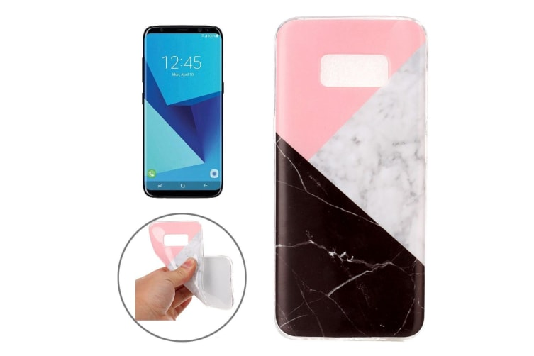 For Samsung Galaxy S8 Case Elegant Marble Pattern Protective Cover Black  White