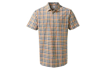 Craghoppers Mens Giovanni Short Sleeved Shirt (Terracotta Check)