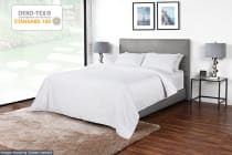 Ovela 600TC 70% Bamboo / 30% Cotton blend Quilt Cover Set (White)