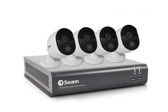 Swann 8 Channel 1080p 1TB DVR with 4 x PRO-1080MSB Thermal Motion Sensing HD Cameras (SWDVK-845804)