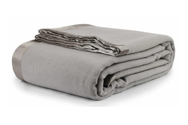 Jason Australian Wool Blanket (Silver/Grey, Queen/King)