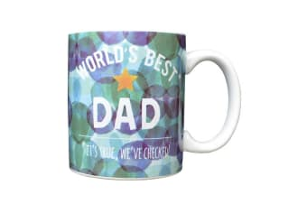 Fathers Day Worlds Best Dad Mug (Multicoloured) (One Size)