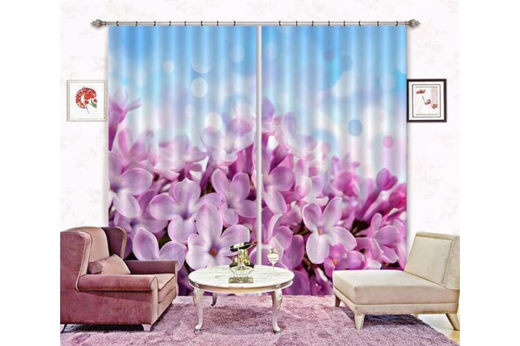 3D Lush Flowers 282 Curtains Drapes, 203cmx213cm(WxH) 80''x 83''