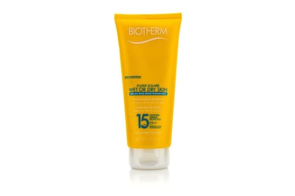 Biotherm Fluide Solaire Wet Or Dry Skin Melting Sun Fluid SPF 15 For Face & Body - Water Resistant (200ml/6.76oz)