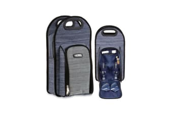 Thermos Natural Style 2 Bottle Wine Cooler Bag (Blue/Grey)