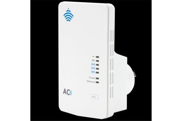 Netcomm NP127 AC750 WiFi Extender & access point Two devices in one functionality 802.11ac 433Mbps