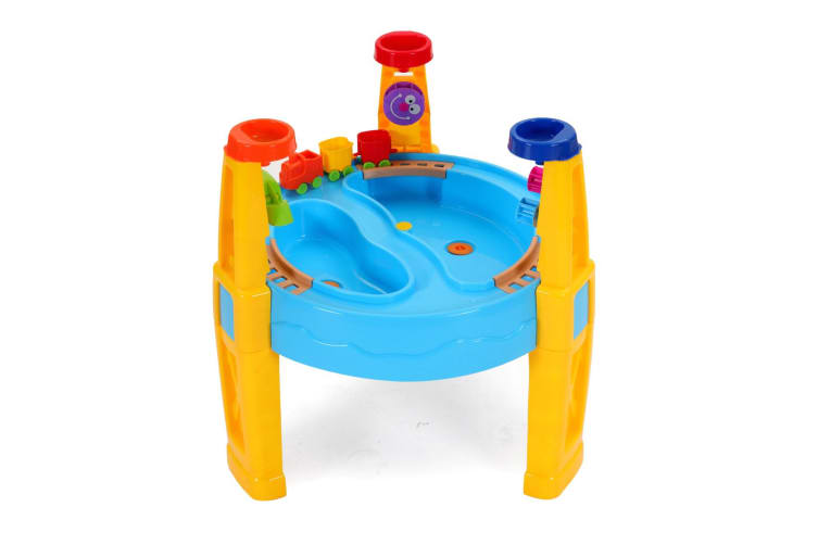 Outdoor Water & Sand Children's Activity Play Transport Table with Accessories
