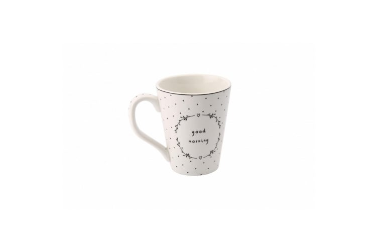 Sent and Meant Good Morning Mug (White/Black) (One Size)