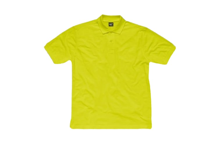 SG Ladies Cotton Short Sleeve Polo Shirt (Lime) (XS)