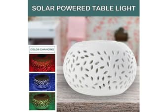 Solar Powered Colour Changing Ceramic Table Light