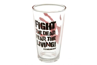 The Walking Dead Fear The Dead Large Glass (Clear/Black/Red) (One Size)