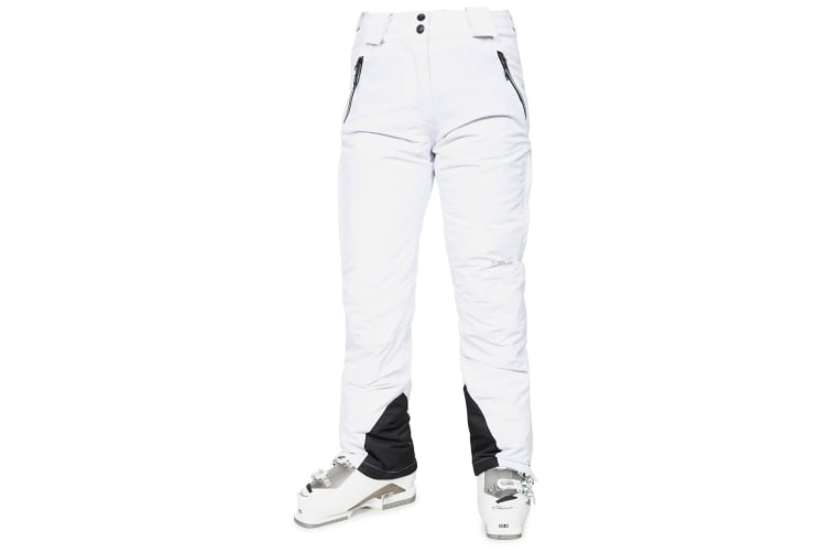 Trespass Womens/Ladies Galaya Waterproof Ski Trousers (White) (M)