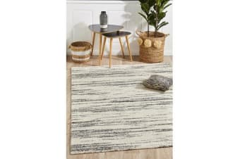 Carter Charcoal & Ivory Super Soft Contemporary Rug 340x240cm