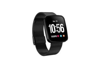 TODO Bluetooth V4.0 Smart Watch Ip67 Heart Rate Blood Pressure 0.96 Oled - Black Metal