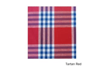 Check Table Cloth Tartan Red 180 cm Diameter Round