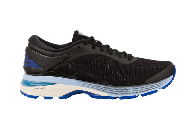 ASICS Women's Gel-Kayano 25 Running Shoe (Black/Blue, Size 6.5)