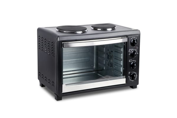 45L Convection Oven with Hotplates (Black)