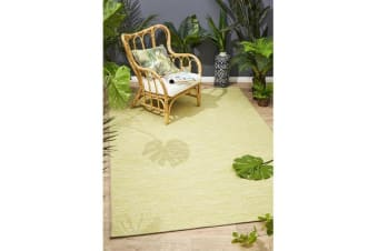 Wyatt Citrus Green Coastal Geometric Runner Rug 300x80cm