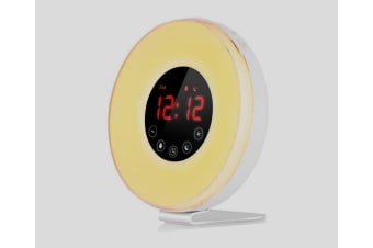 Wake- Up Light, LBell Alarm Clock 7 Colored Sunrise Simulation & Sleep Aid Feature, Dual Alarm Clock with FM Radio, 7 Natural Sound and Snooze