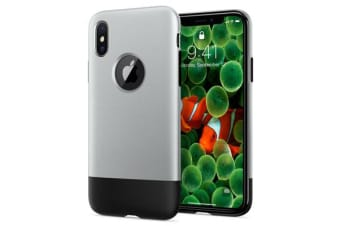 Spigen (Premium) iPhone X Case Classic One Aluminum Gray 057CS23345