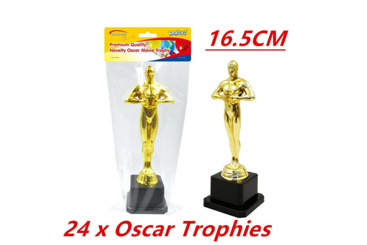 24 x Hollywood Award Gold Oscar Movie Trophy Inspired Ceremonies Party Favor VIP