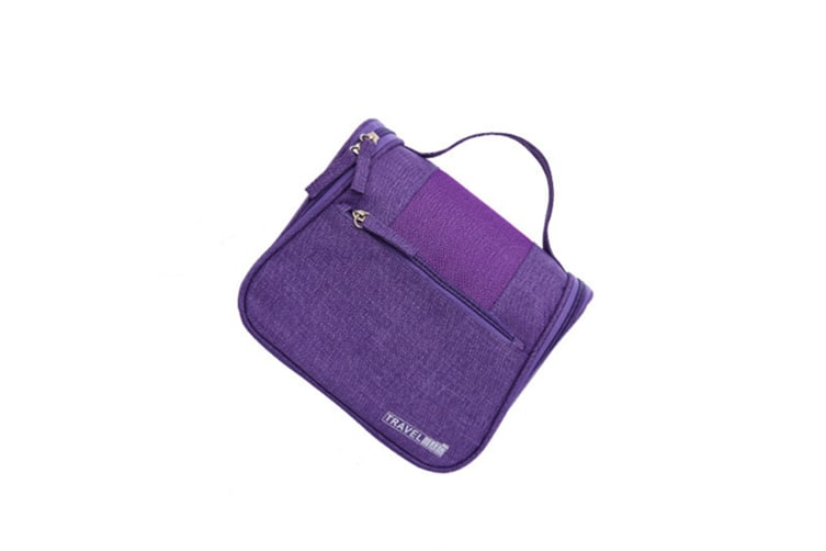 Pure Hand-Held Washing And Washing Bag Cosmetics Receiving Bag - Purple Purple