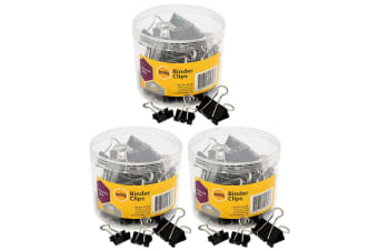 180PC Marbig Paper Fold Back/Binder Clips Assort Sizes Office/Home Use/Essential