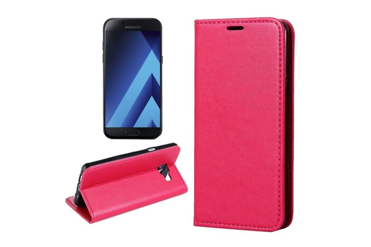 For Samsung Galaxy S8 PLUS Case Sheep Texture Leather Protective Cover Red