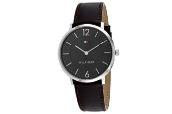 Tommy Hilfiger Men's Sophisticated Sport Watch (Grey Dial, Leather Strap)
