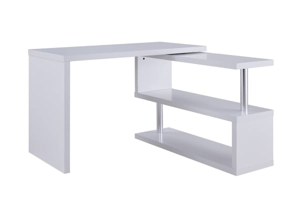 ovela desk large swivel shelf white kogan com