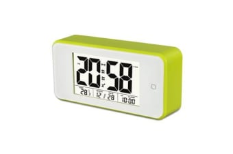 TODO Smart Light Lcd Alarm Clock Backlit Display Portable Battery Operated - Green