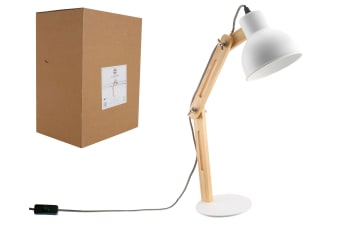 Luminite Ella White Desk Lamp 37x15x45cm